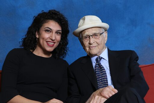 Social Justice Fellow Rachel Sumekh and Norman Lear