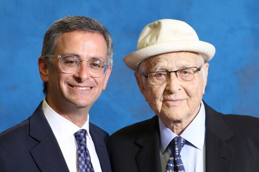Rabbi Ken Chasen and Norman Lear