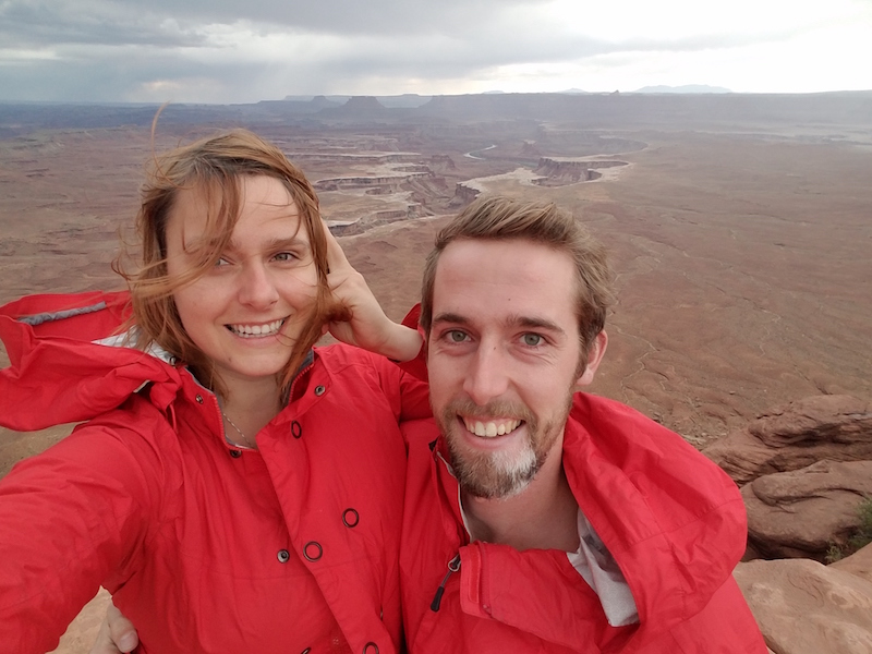 llew and mary at canyonlands