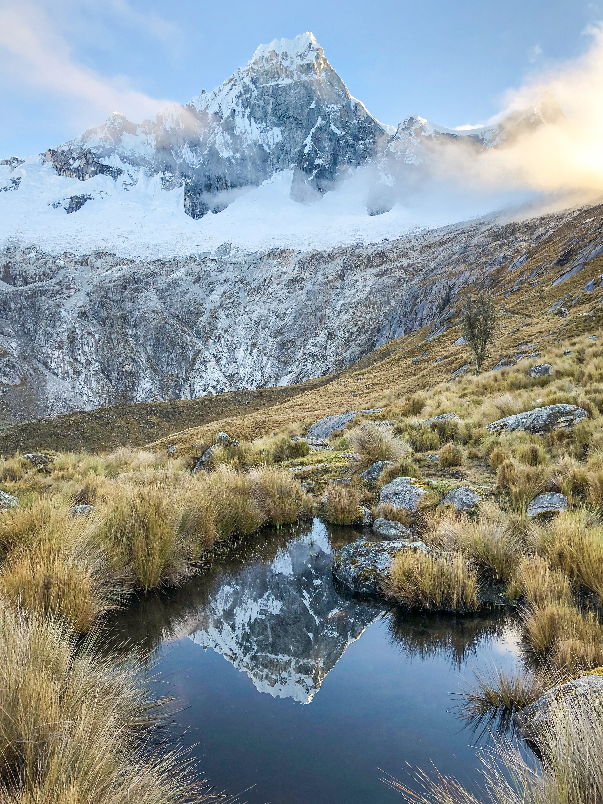 Santa Cruz Trek - Mountain Reflection