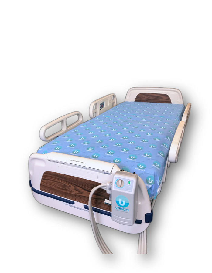 Unisoft ONE Single Patient Use Mattress System is the first disposable therapy mattress. Made from sustainable and and affordable materials, its unique design and structure provides gentle support for the prevention and treatment of pressure ulcers.