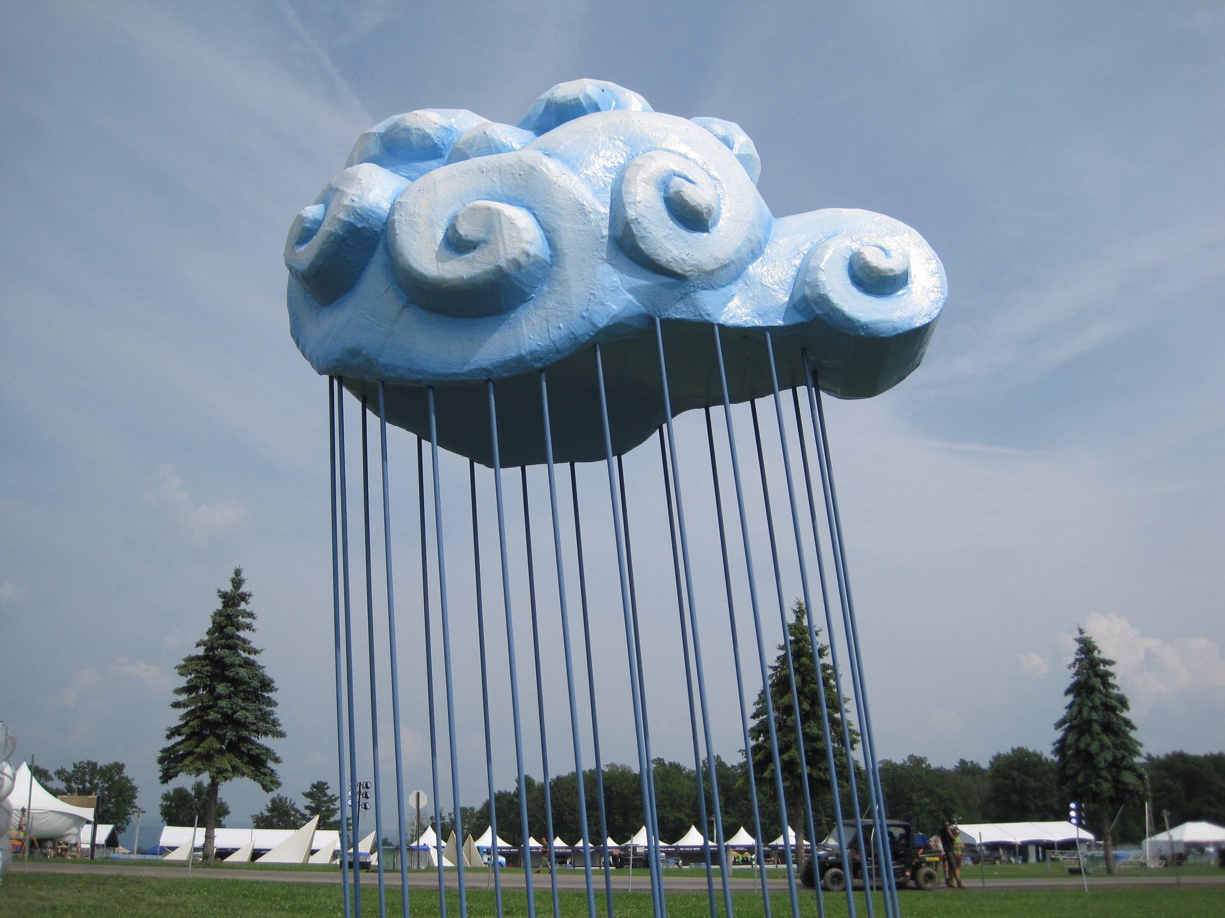 Rain Cloud, 17 x 12 x 8'