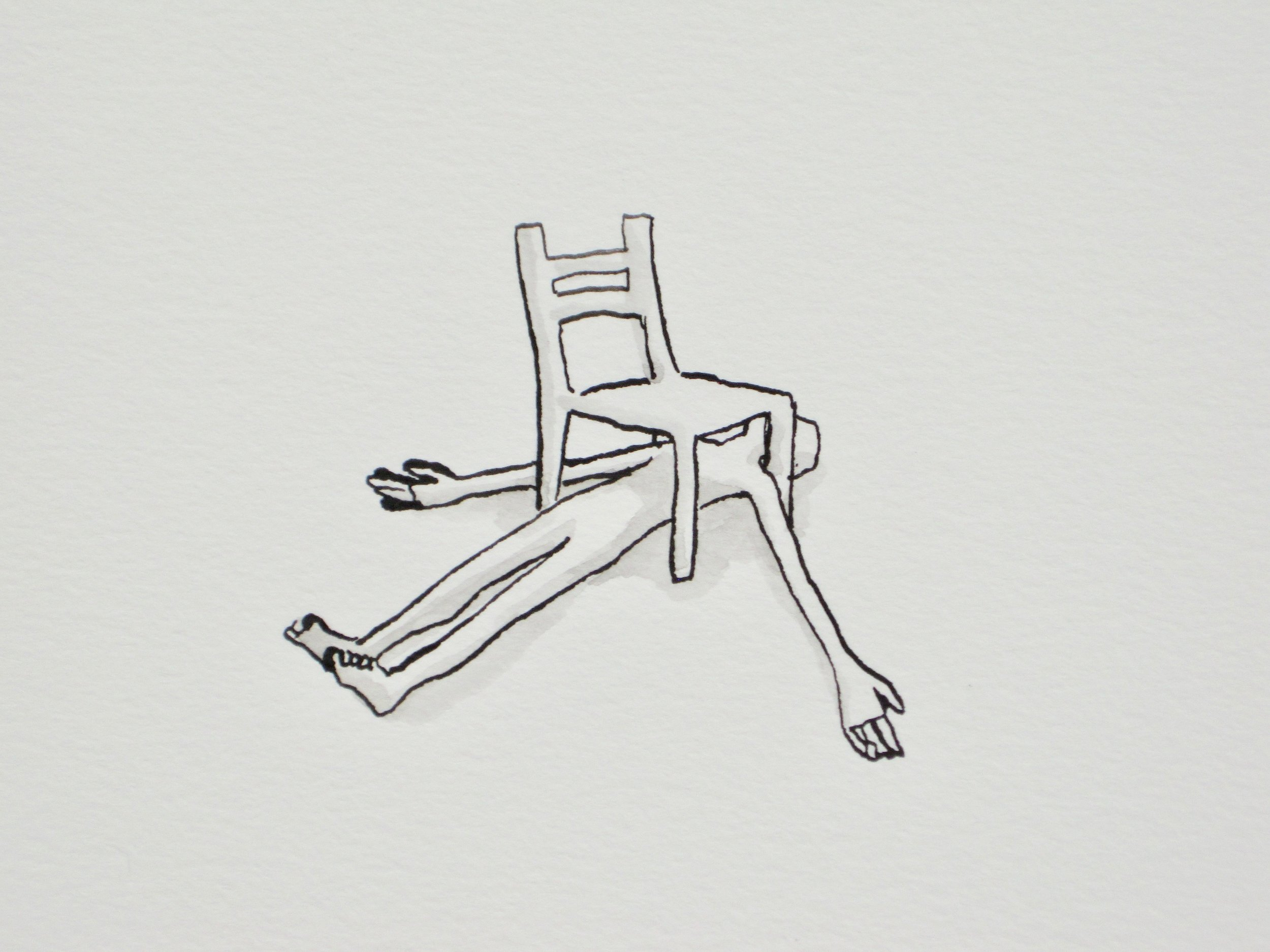 Chair Nap, 9 x 12""