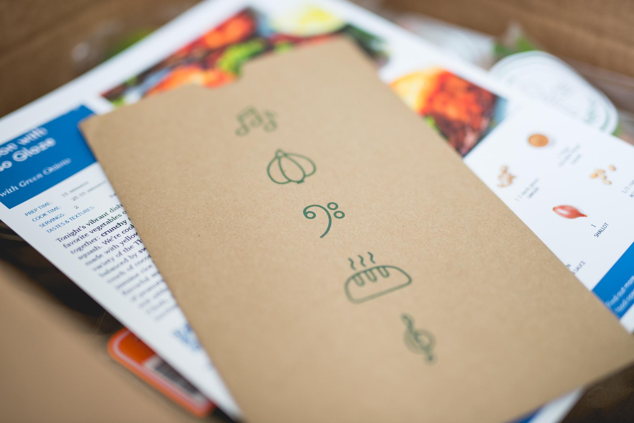 Recipe + Music Pairing card