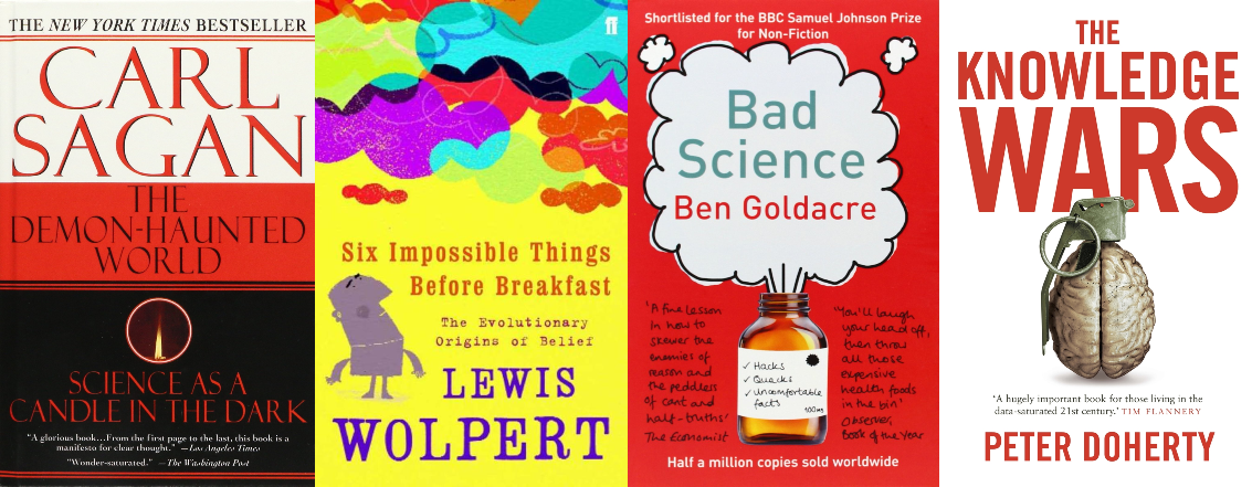 Some suggested reads for honing your scientific skepticism. Find a copy in  a library near you  and you can listen to The Demon Haunted World as  an audio book on YouTube .