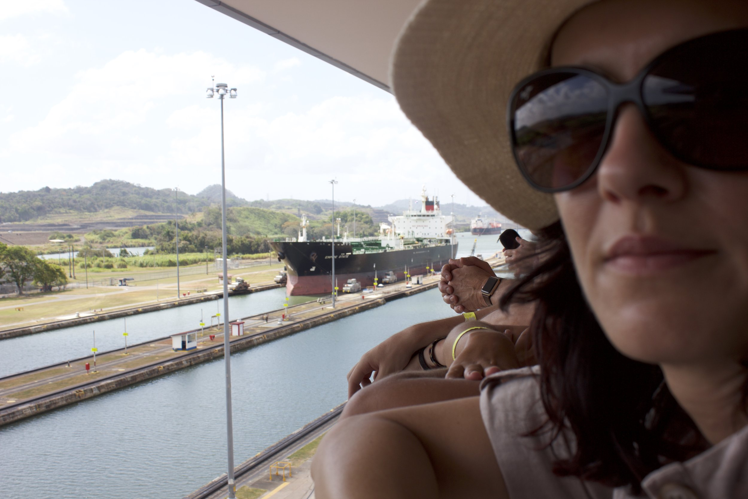 Miraflores locks at the Panama Canal. It was really cool watching a ship and a couple of yachts go through.