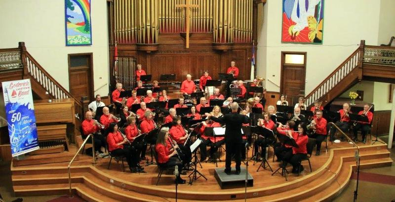 Hugh McGregor leading the band during the 50th Anniversary concert (Photo by Colleen Maguire )