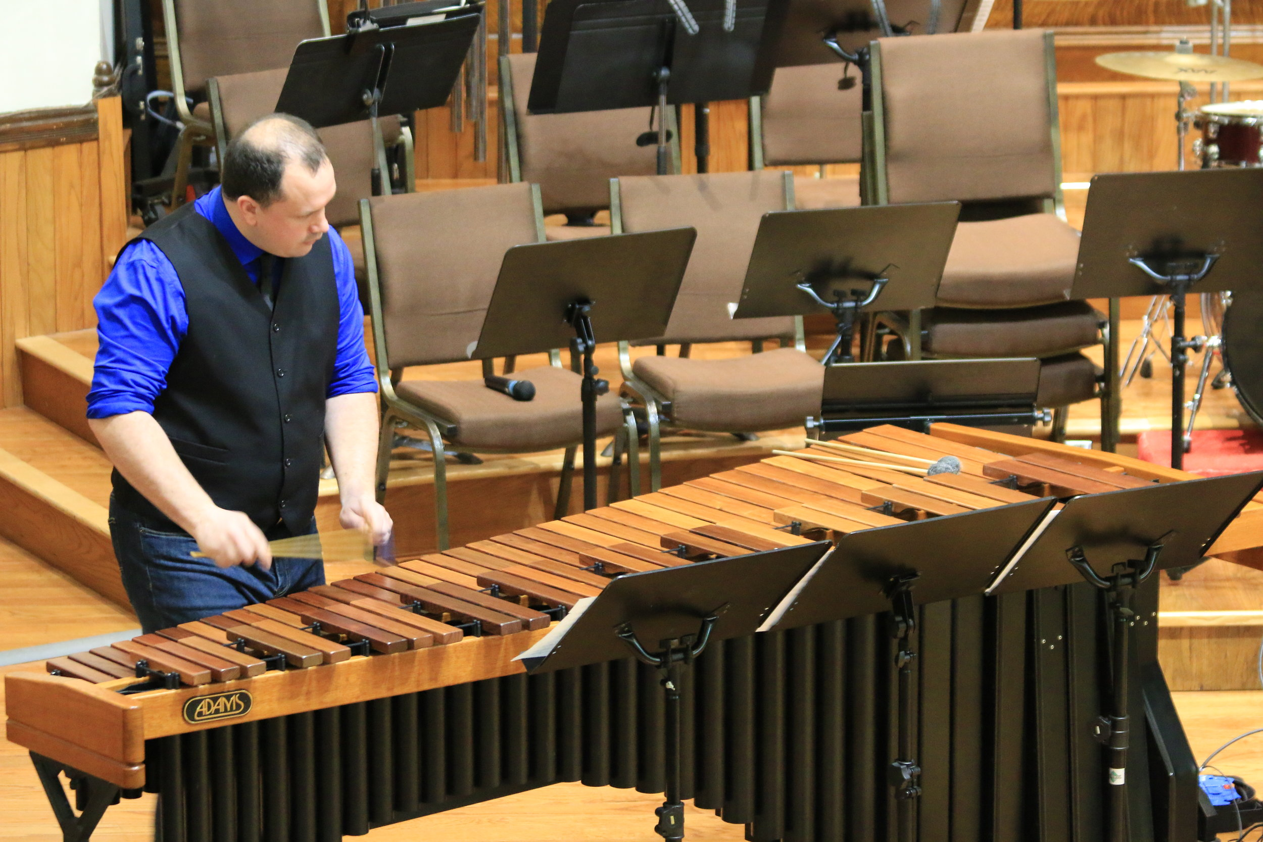Dave Robillard of Duo Percussion