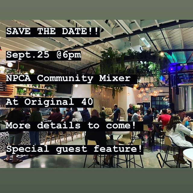 SAVE THE DATE || We will be hosting a community mixer with our friends @original40beer on Sept.25! We have lots of fun things planned including a #specialguest feature!! More info and details to come!! Not a member of the North Park Community Association? Visit the link in our bio to join!! #npca #explorenorthpark #community #mixer #local #supportlocalbusinesses #gettogether #fun #92104