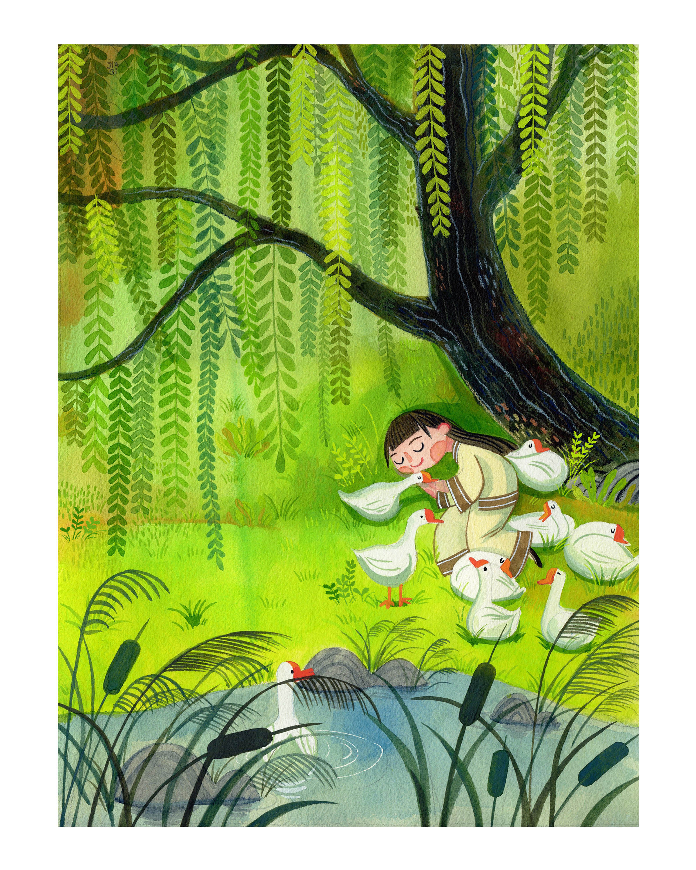 Illustration for OCTOBER the children's literature magazine.
