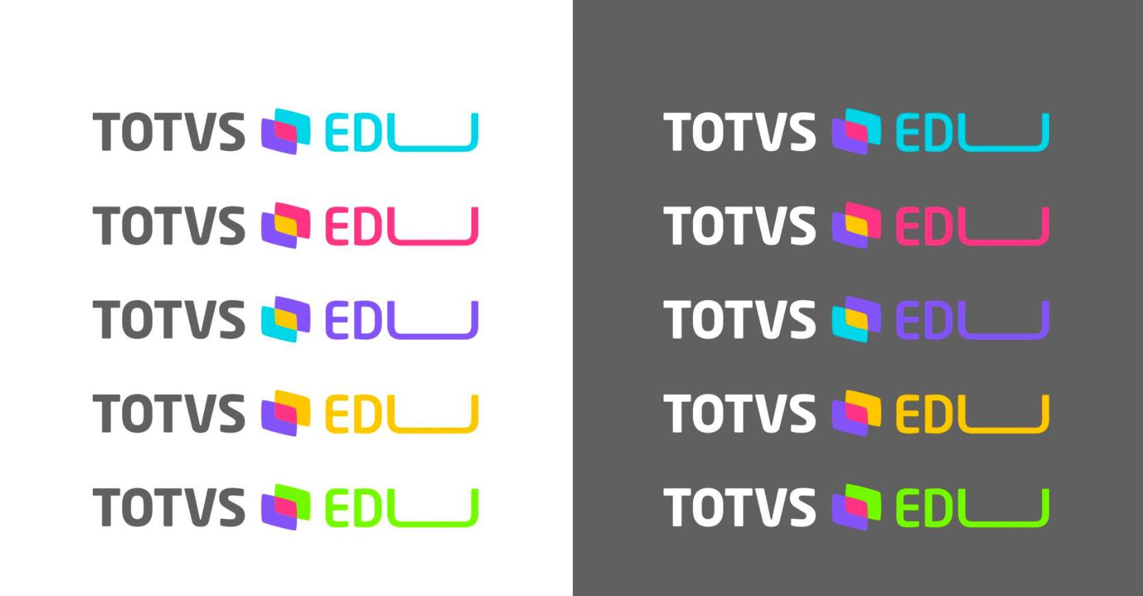 Estudo de identidade visual para o lançamento da Universidade  Totvs , também parceria com a agência TeamWorker.