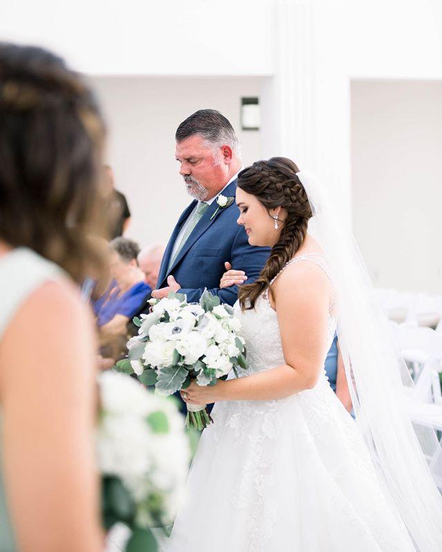 """Today a bride, tomorrow a wife, forever your little girl."" 💕💍🥺 . . . . . @theclaytheatre  #daddydaughter #fatherdaughter #fatherdaughterdance #mrandmrsbostick #southernstudios #daddydaughterdance #givingheraway #gainingason #claytheatre #claytheatreweddings #ceremony #reception #firstdance #bride #fatherofthebride #greencovesprings #northfloridaweddingphotographer"