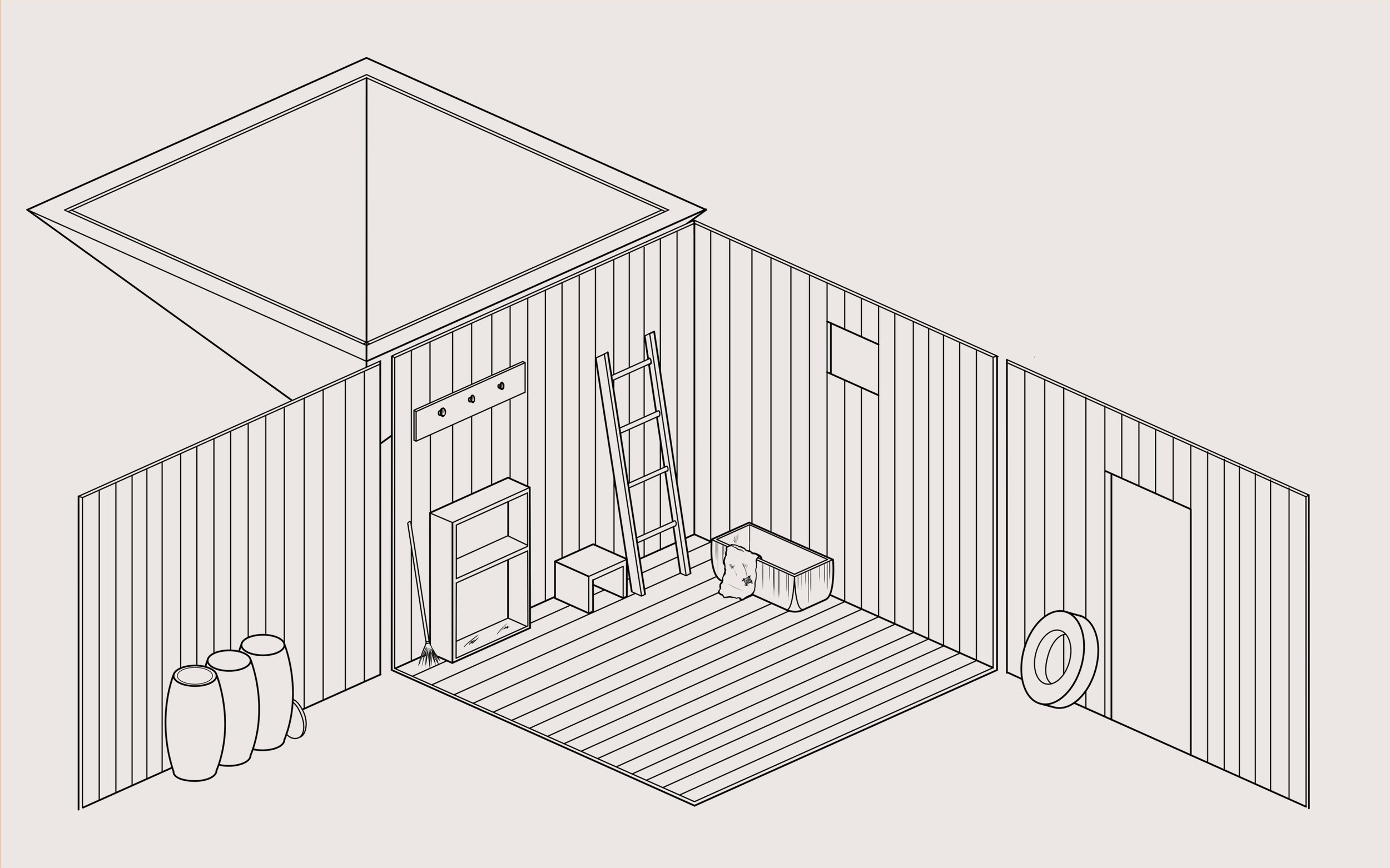 Small barn - details and layout