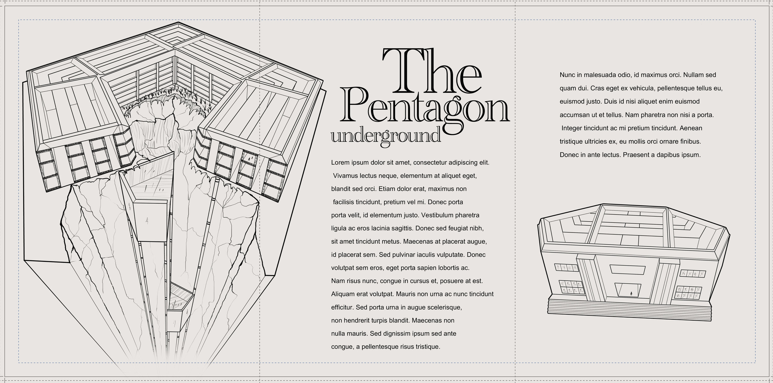 The Pentagon underground - Clean up and layout