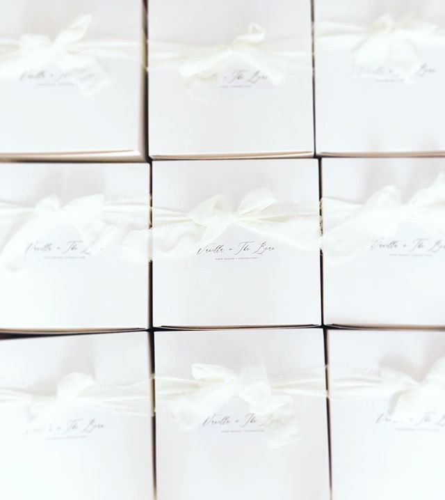 9 of the of the 28 tasting boxes going out today! Happy Sunday! 💗