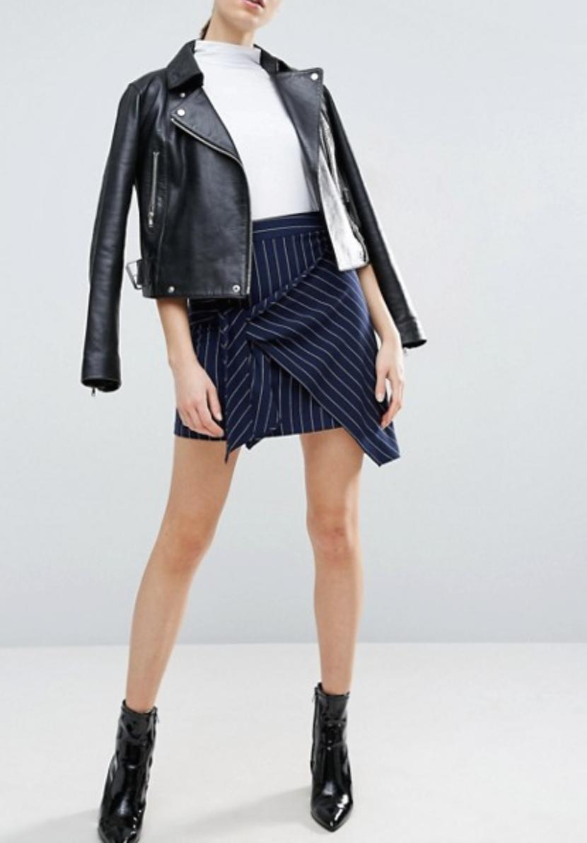 ASOS Mini Skirt in Cut About Stripe $46.00