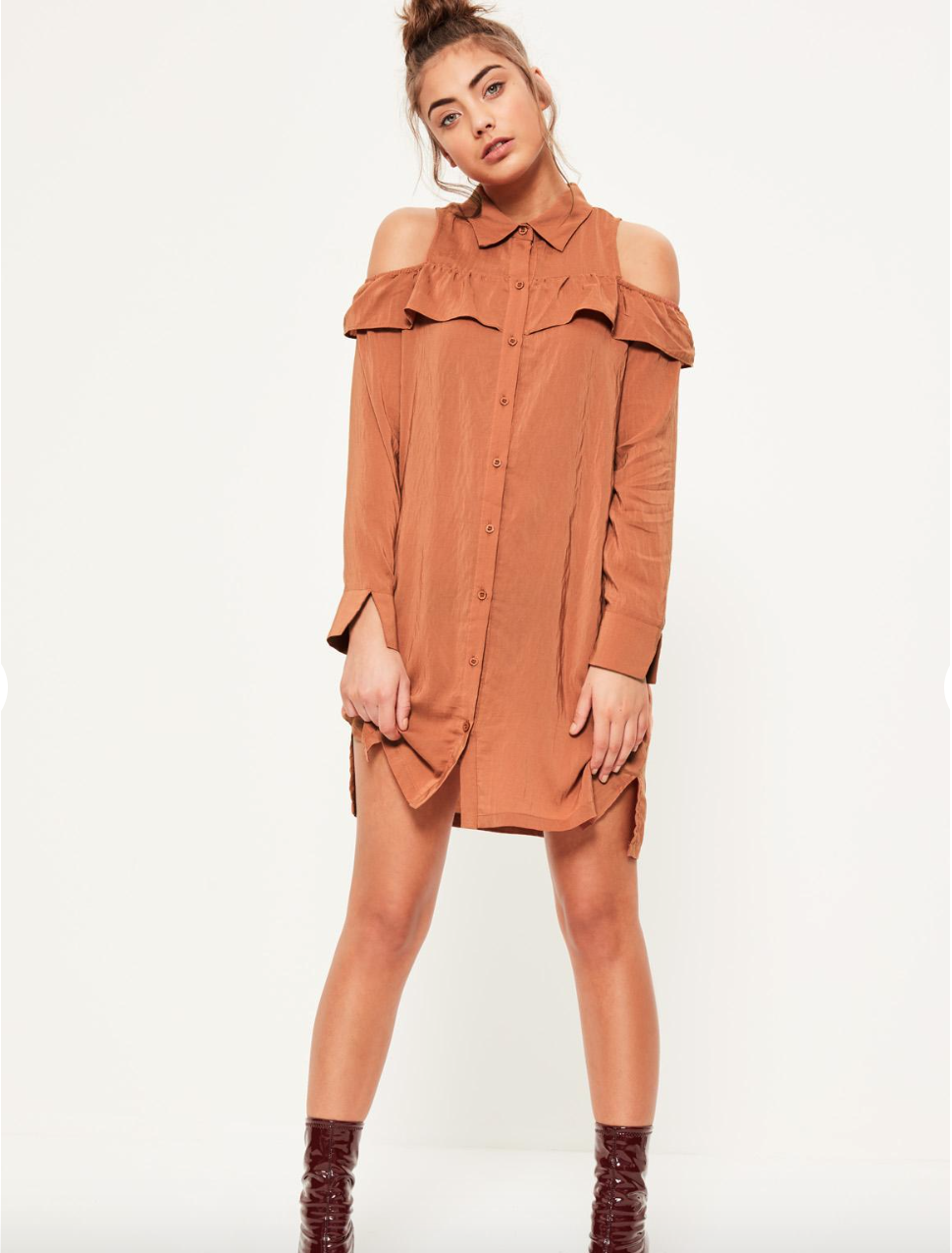 Missguided Cold Shoulder Dress $45.00