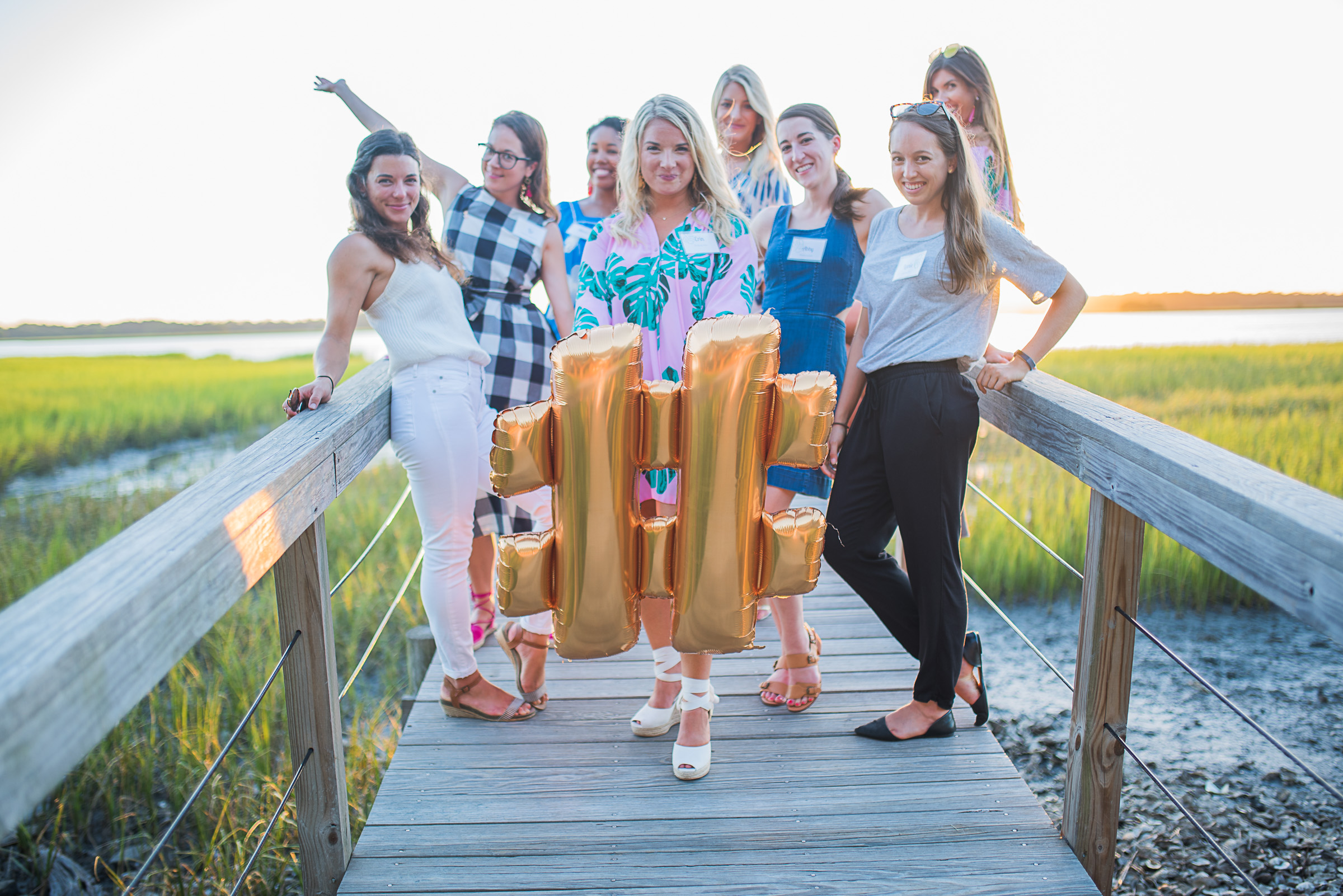 Markey of Hatch Cove Designs ; LIz of Charleston Weekender and Mimi of the Tiny Tassel (both also from Cannonborrough Collective) ; Jayne of Recovery Love and Care ; Abby of  Abby Murphy Photography  ; Kaylan of Kaylan Sells Charleston ; Lanie of  Leapfrog PR