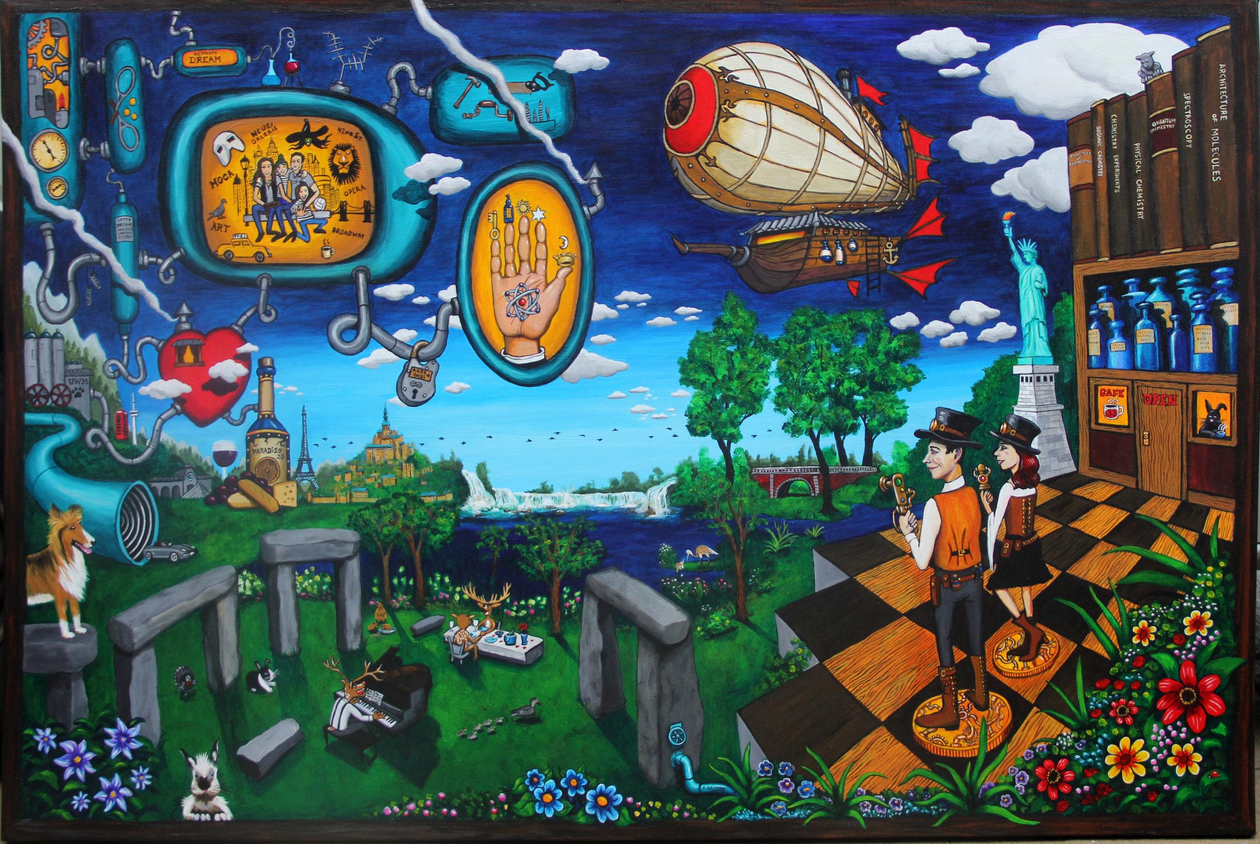"""""""The Alchemist""""  48' X 72'  acrylic on canvas"""