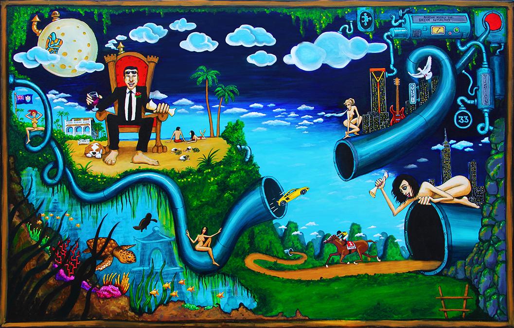 """Legendary""  48"" x 72""  acrylic on canvas"
