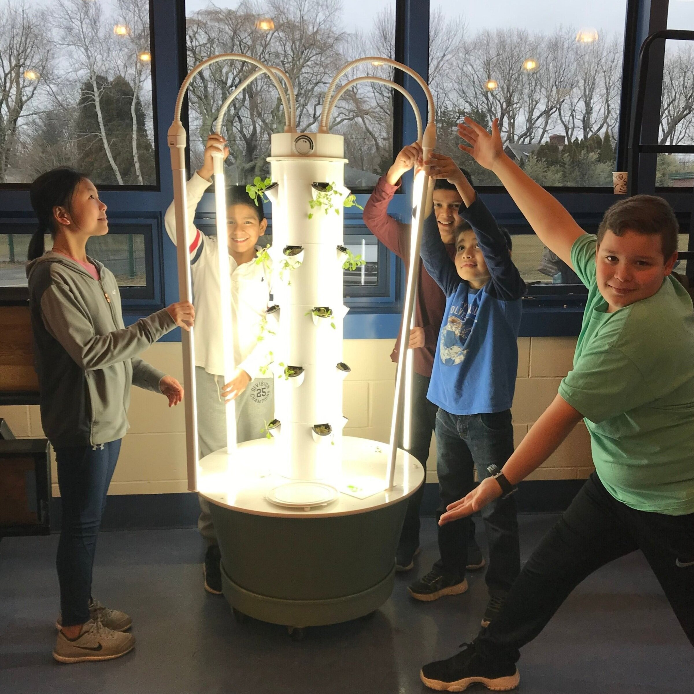 2018 Mini Grant:  Sustainable Gardening — JMES — LED Grow Light Tower -