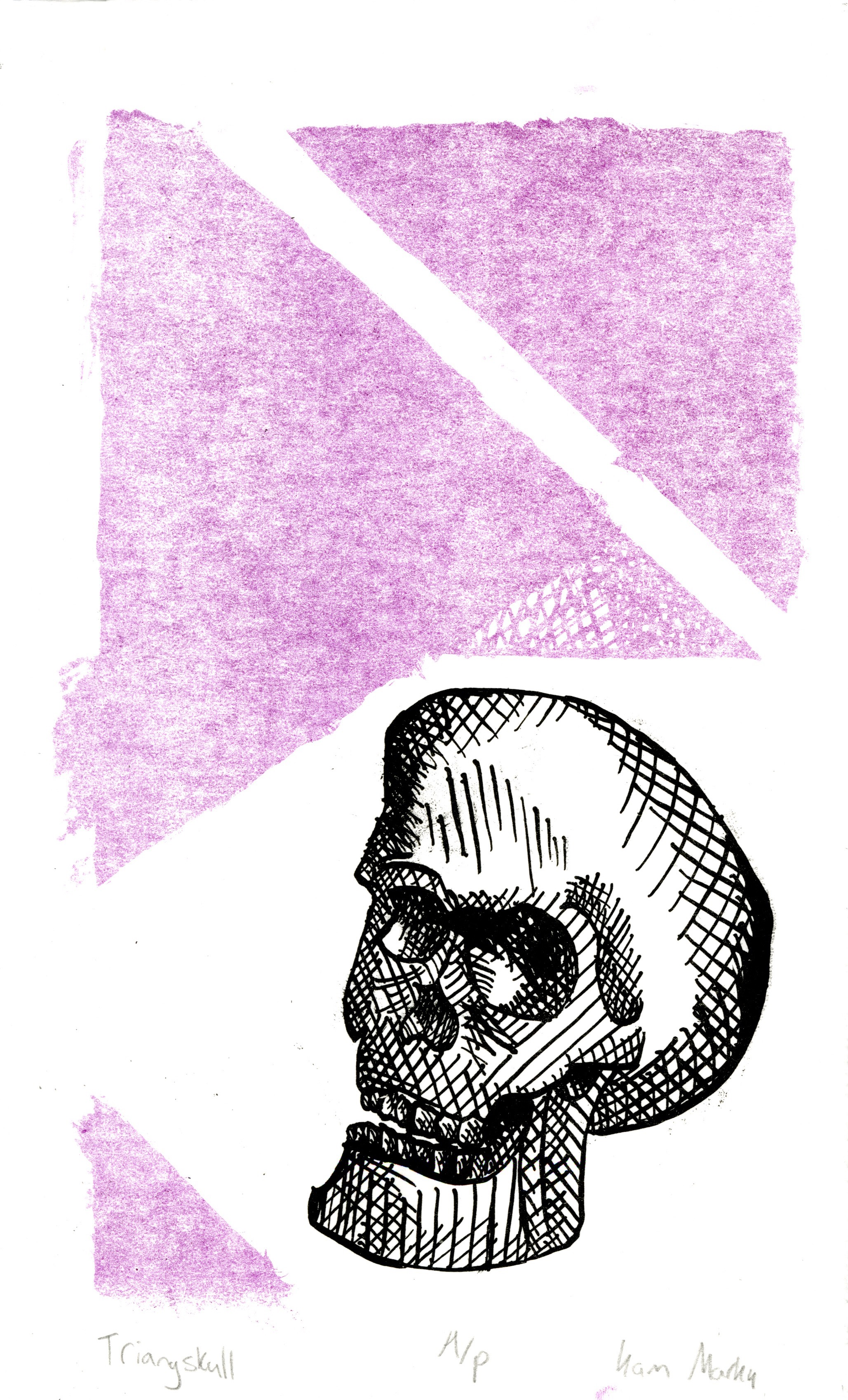 Triangskull, Lithograph