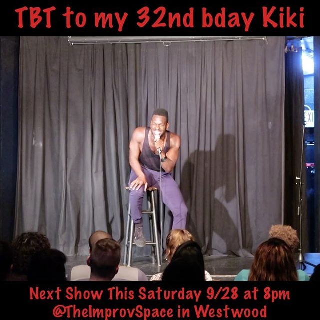 #tbt to a quick clip from one of my fave episodes of my Let's Have A Kiki Comedy Show: My Bday Show!! One day I'll only use the kinda language I use in front of my momma so she can approve of my #jokes. That day won't be this Saturday so come through and be prepared for some #adultcontent 😏💁🏾 The link to tickets for this Saturday's Back To School Kiki is in my Instagram bio! Come thru!! #throwbackthursday #standupcomedy #comedian #mommajoke