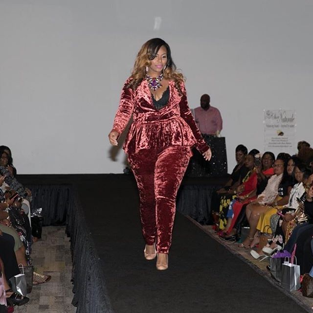 Had a blast rocking the runway @theweightisoverfashion This look is by @eleven60