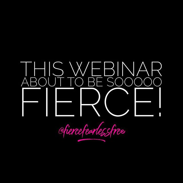 It's the first day of registration and next weeks webinar is almost filled to capacity! A-MA-ZING 💗