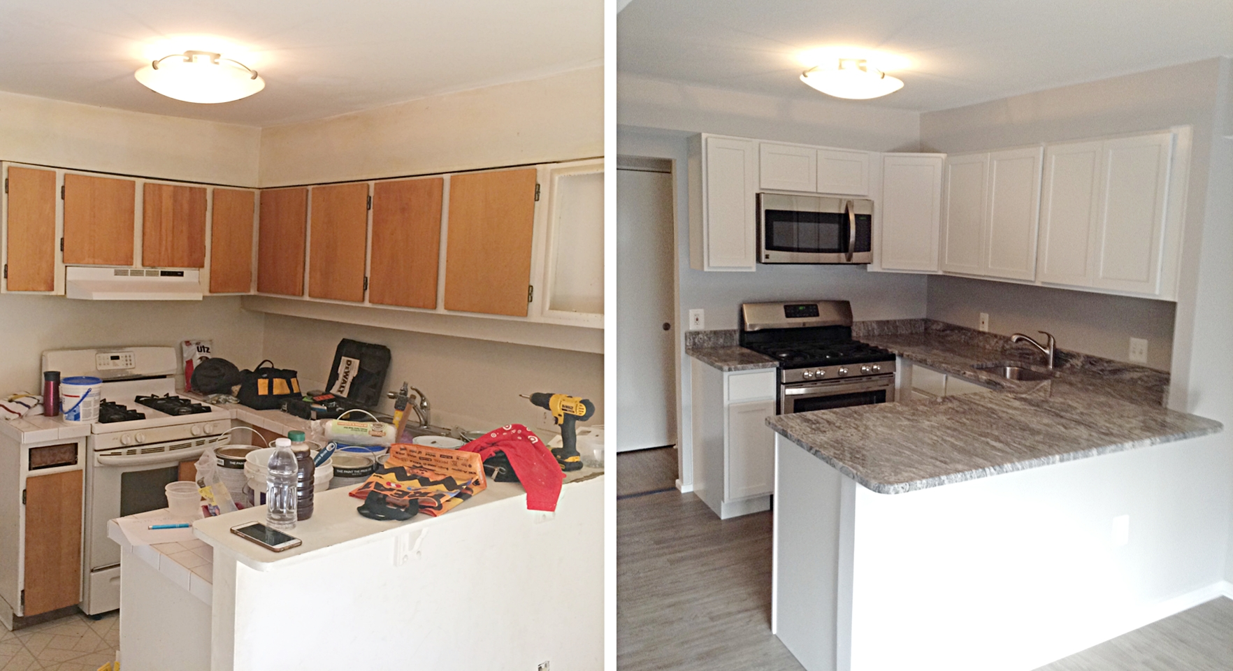 Kitchen: Before & After