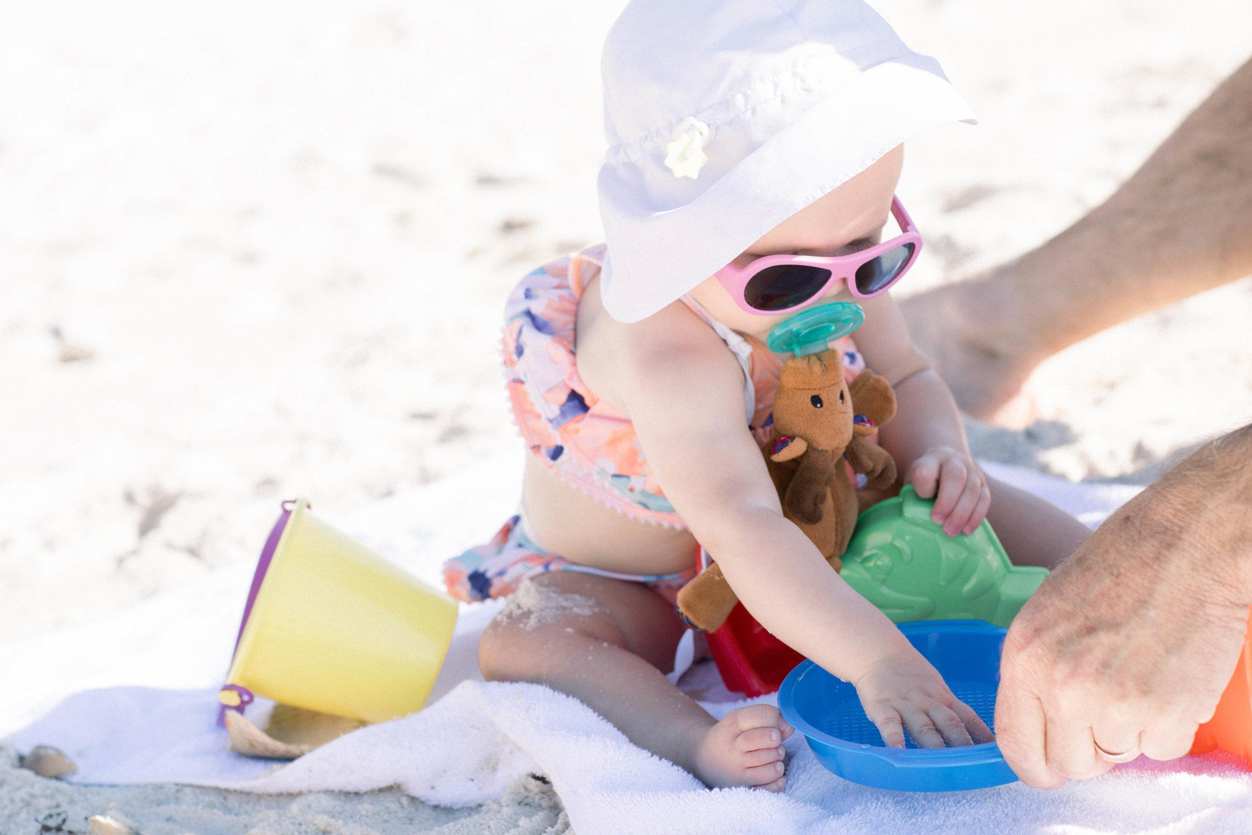 Beach baby, Pensacola, Florida, Sandcastles, Beach toys