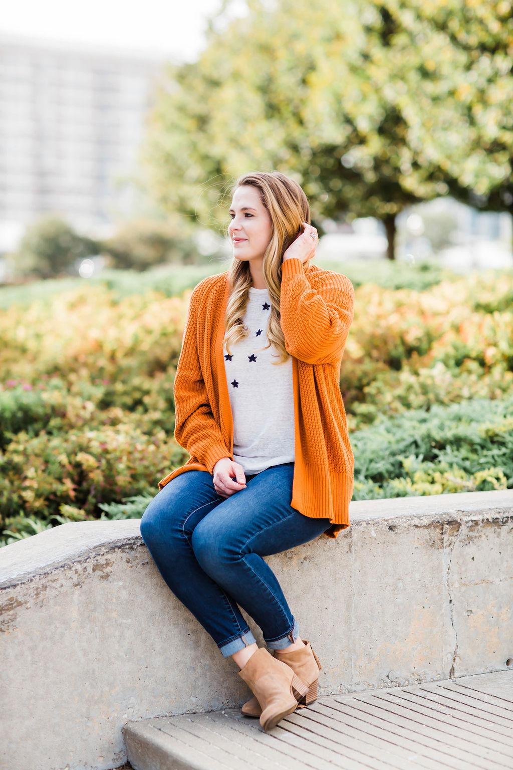 Orange Cardigan, Urban Outfitters