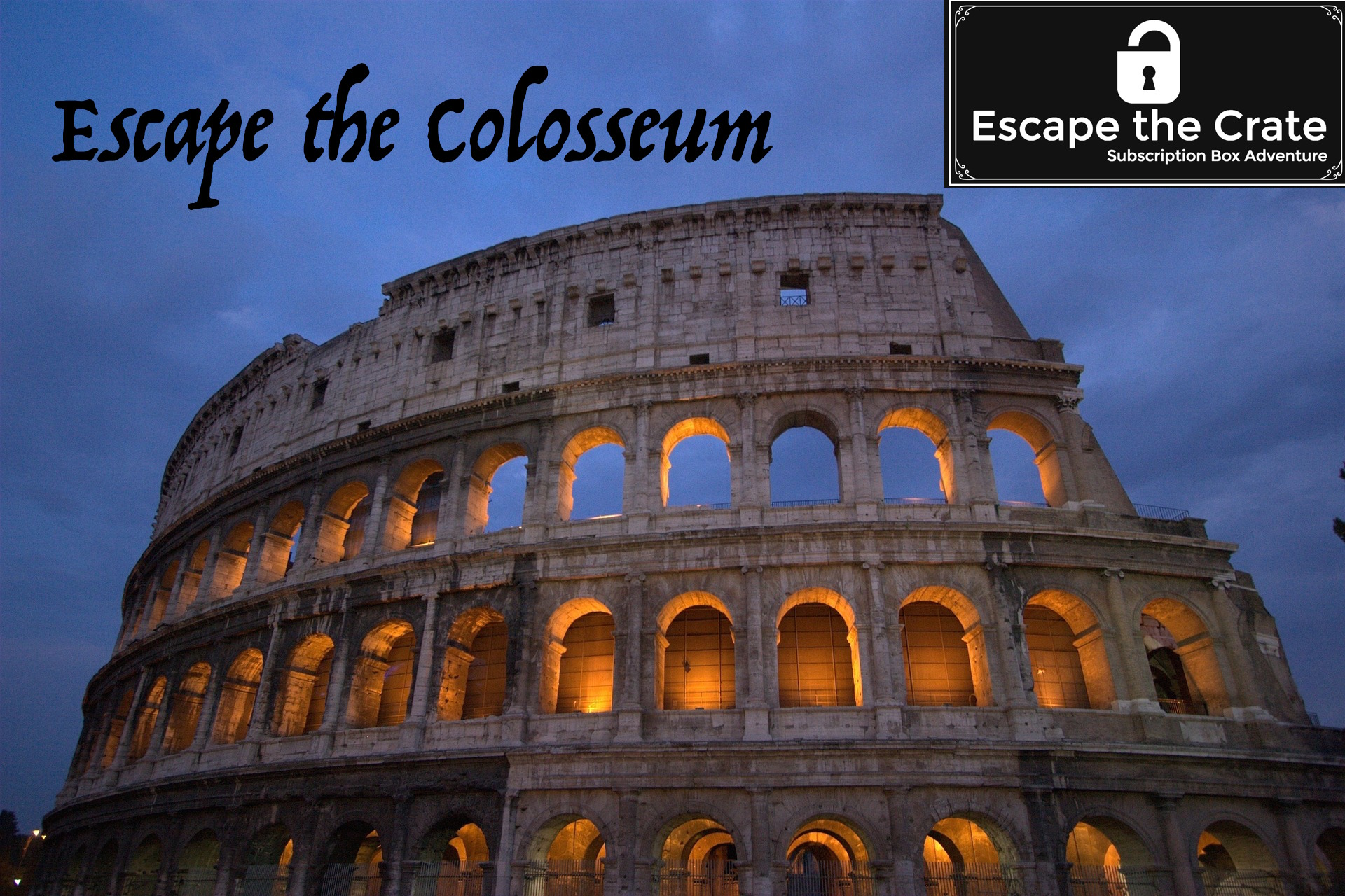 Travel back in time to the Roman Colosseum to compete in a 45 minute race to discover the secrets of the arena - Click on the logo for more details