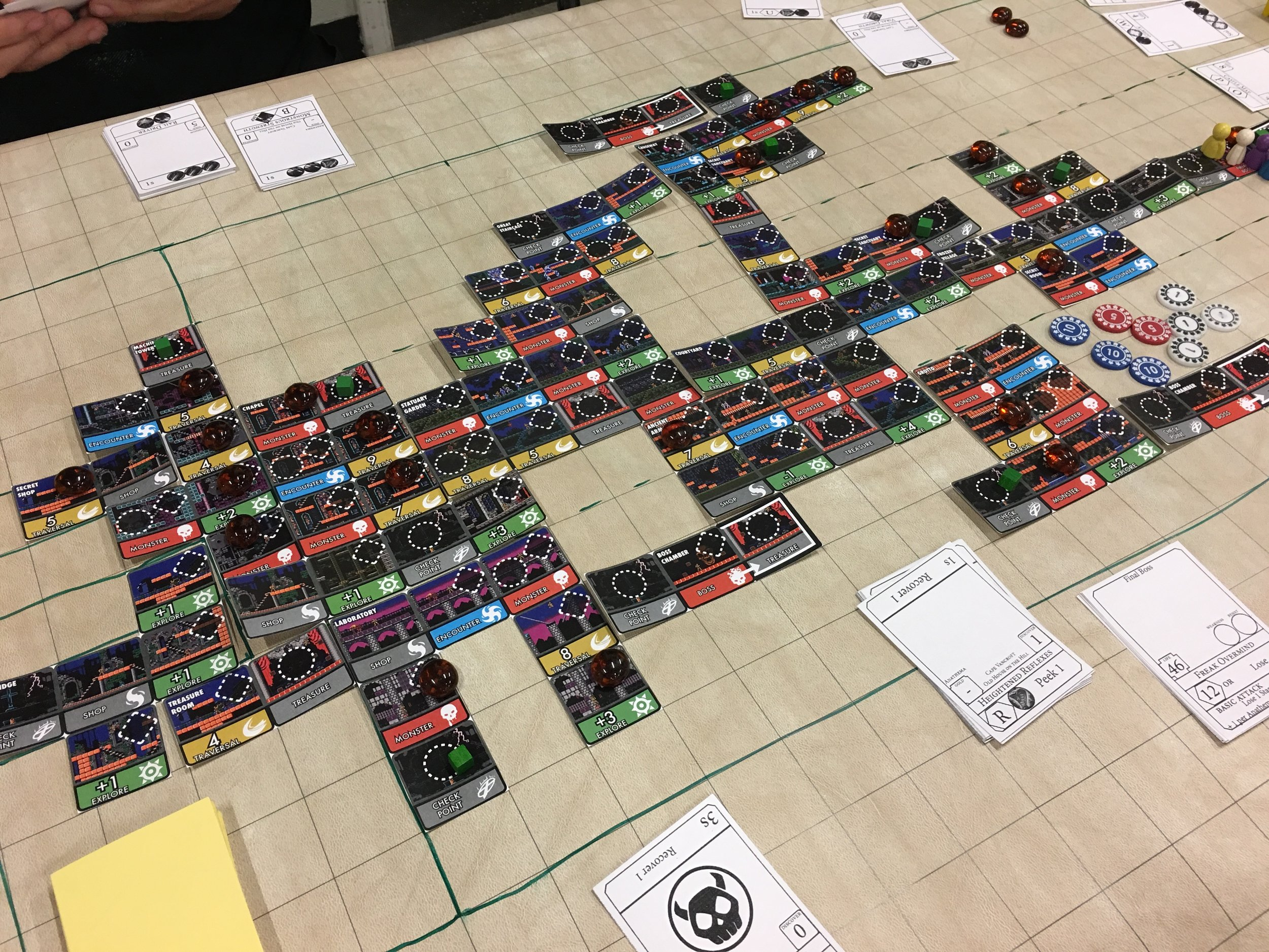 At the end of the game, the thing we built with our adventures looked like this! Kind of reminds you of a real Metroidvania game, eh?