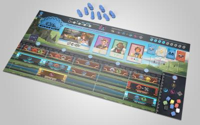 Here's a setup of a typical player board mid-game!