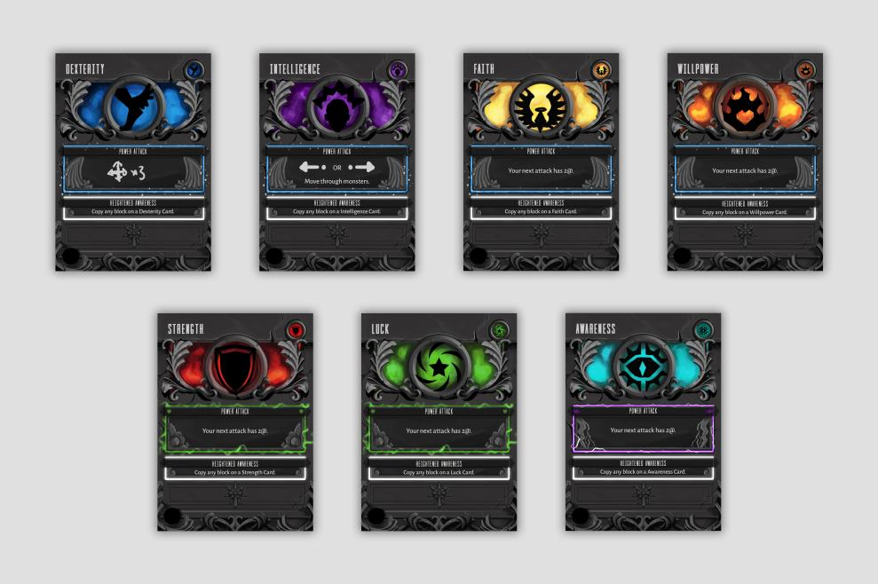 These cards are still a work-in-progress. The Icons and text haven't been added just yet.