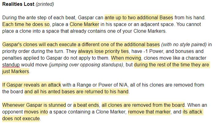 Gaspar's old UA, problems highlighted.