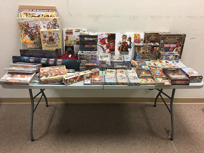 Everything you see on this table is a thing you might find in your treasure box! And yes—that's a complete Seventh Cross Exceed Collector's Edition in the back!