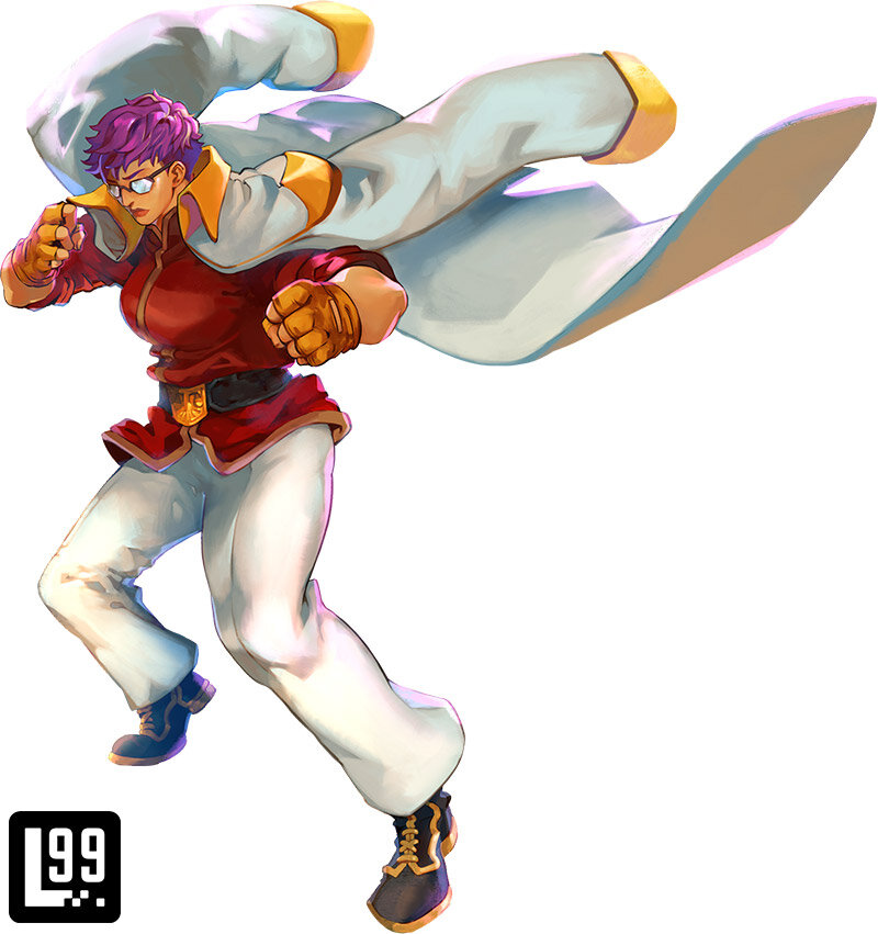 For this costume, the backer was loosely inspired by Saitama, from One Punch Man. That same cool demeanor certainly comes through in Nokomento's artwork.