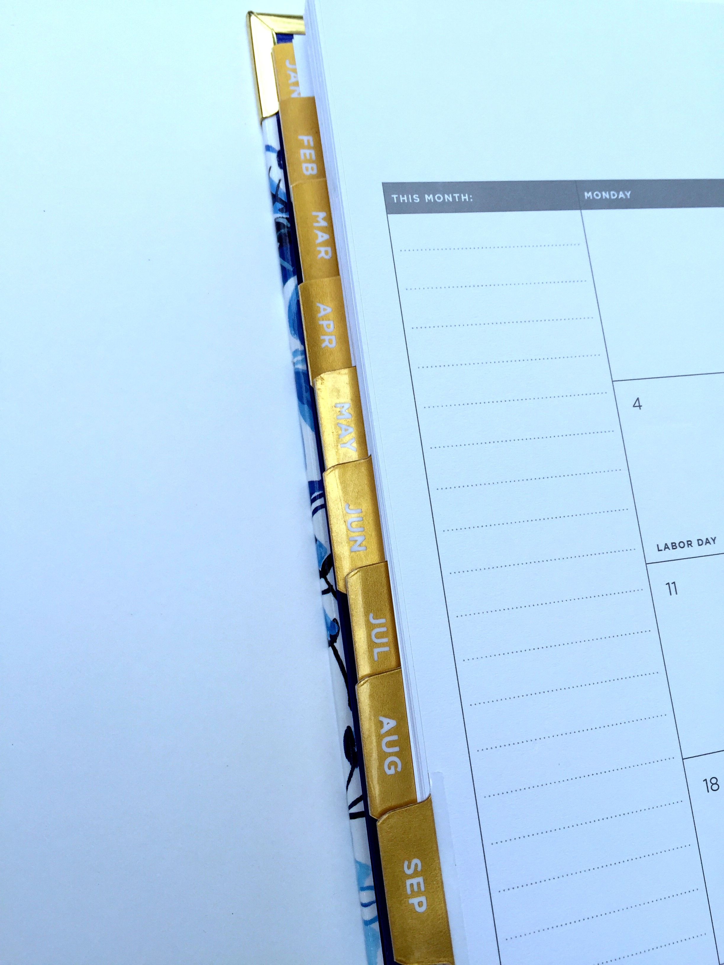 Monthly Calendar in the Day Designer Planner