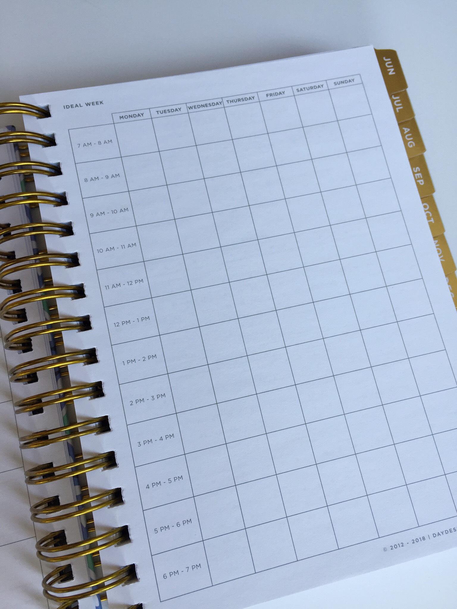 Day Designer Mini Ideal Week