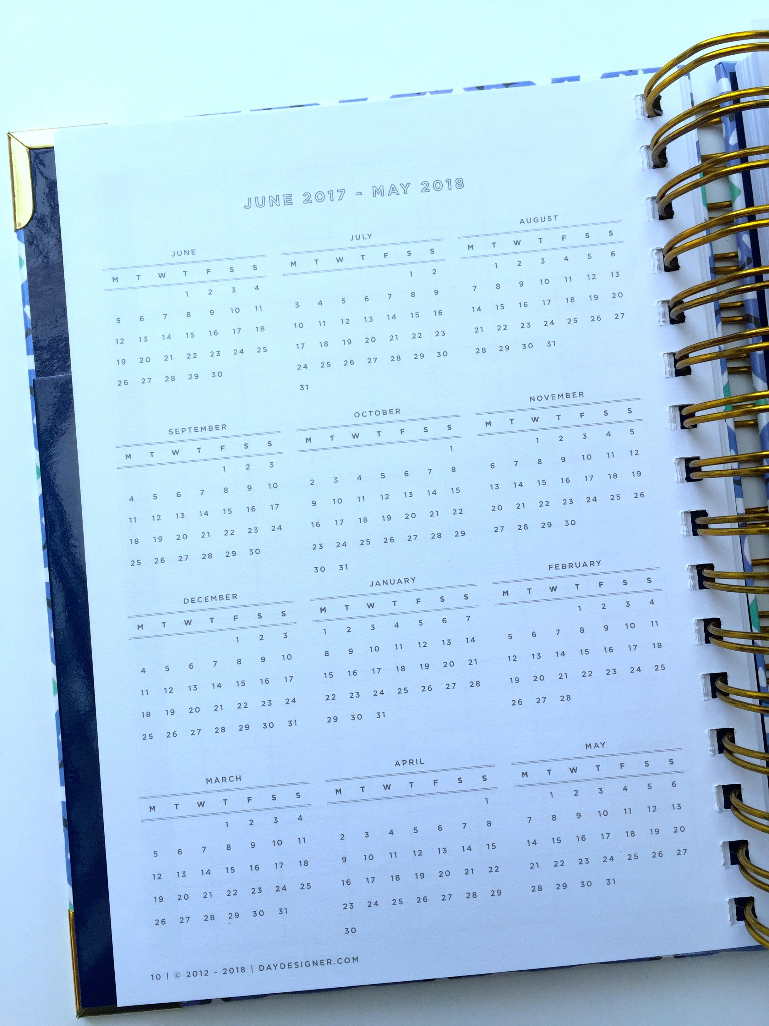 The Mini Yearly Calendar