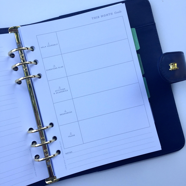 Day Designer A5 month beginning