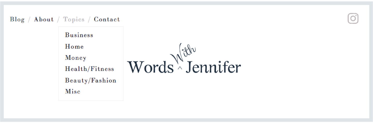 Topics for Words With Jennifer