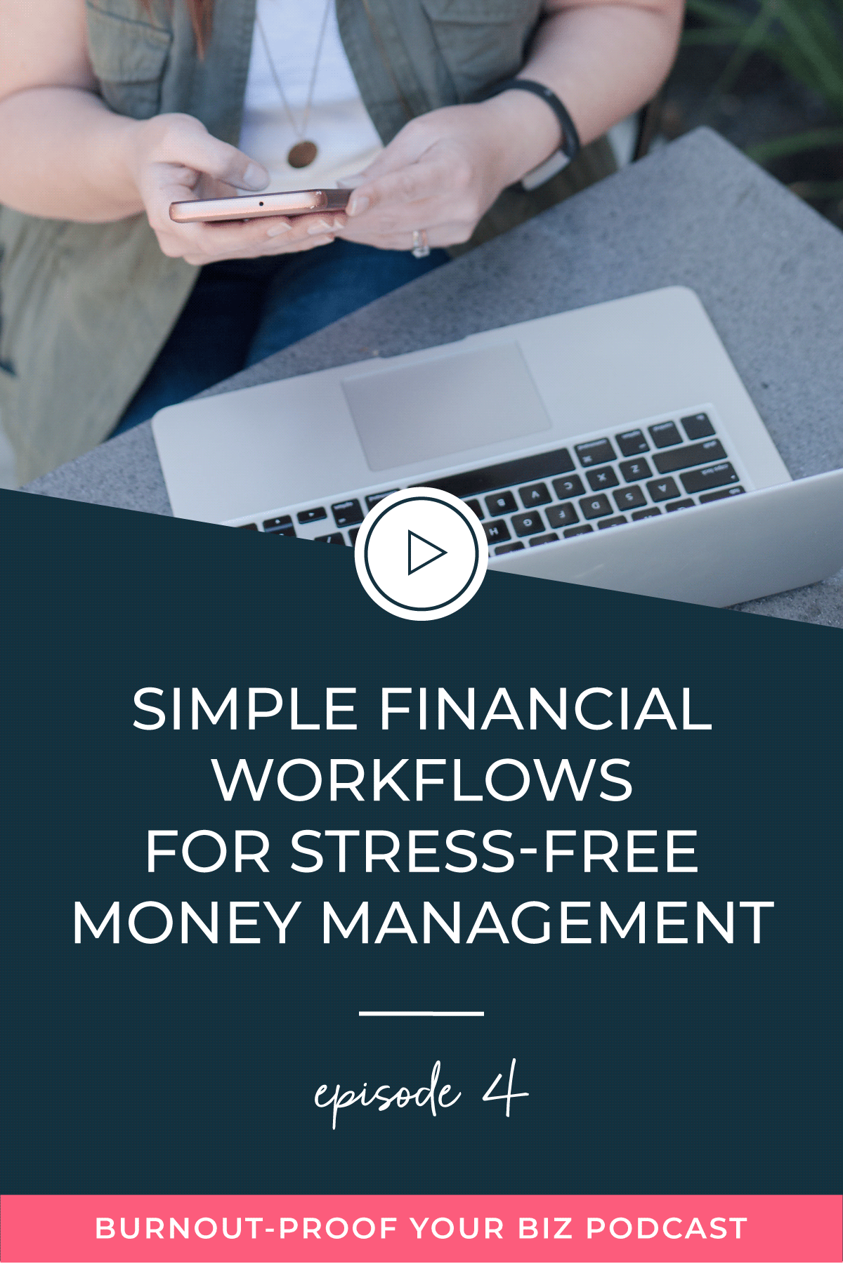 Burnout-Proof Your Biz Podcast with Chelsea B Foster | Episode 004 - Simple Financial Workflows for Stress-free Money Management | Learn how to run your biz and live your dream life on your own terms without the fear of burnout.