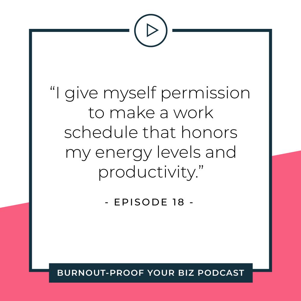 Your Permission Slip | Episode 18 of Burnout-Proof Your Biz with Chelsea B Foster | Listen at www.burnoutproofyourbiz.com.