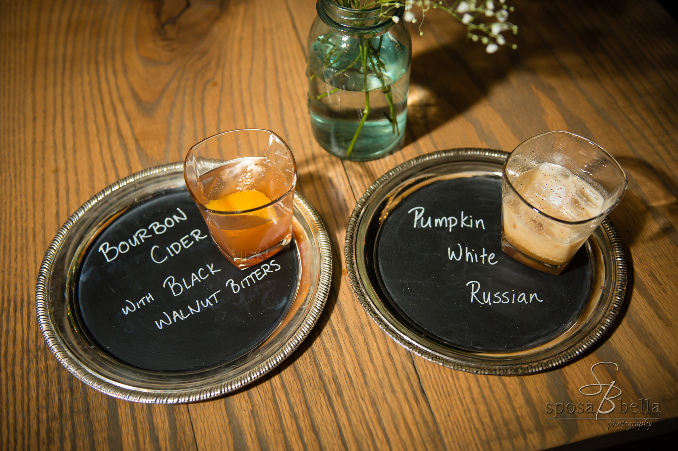 Signature cocktails are a great way to personalize your day. Ashley & Josh choose drinks that fit the theme of their day and sound delicious!