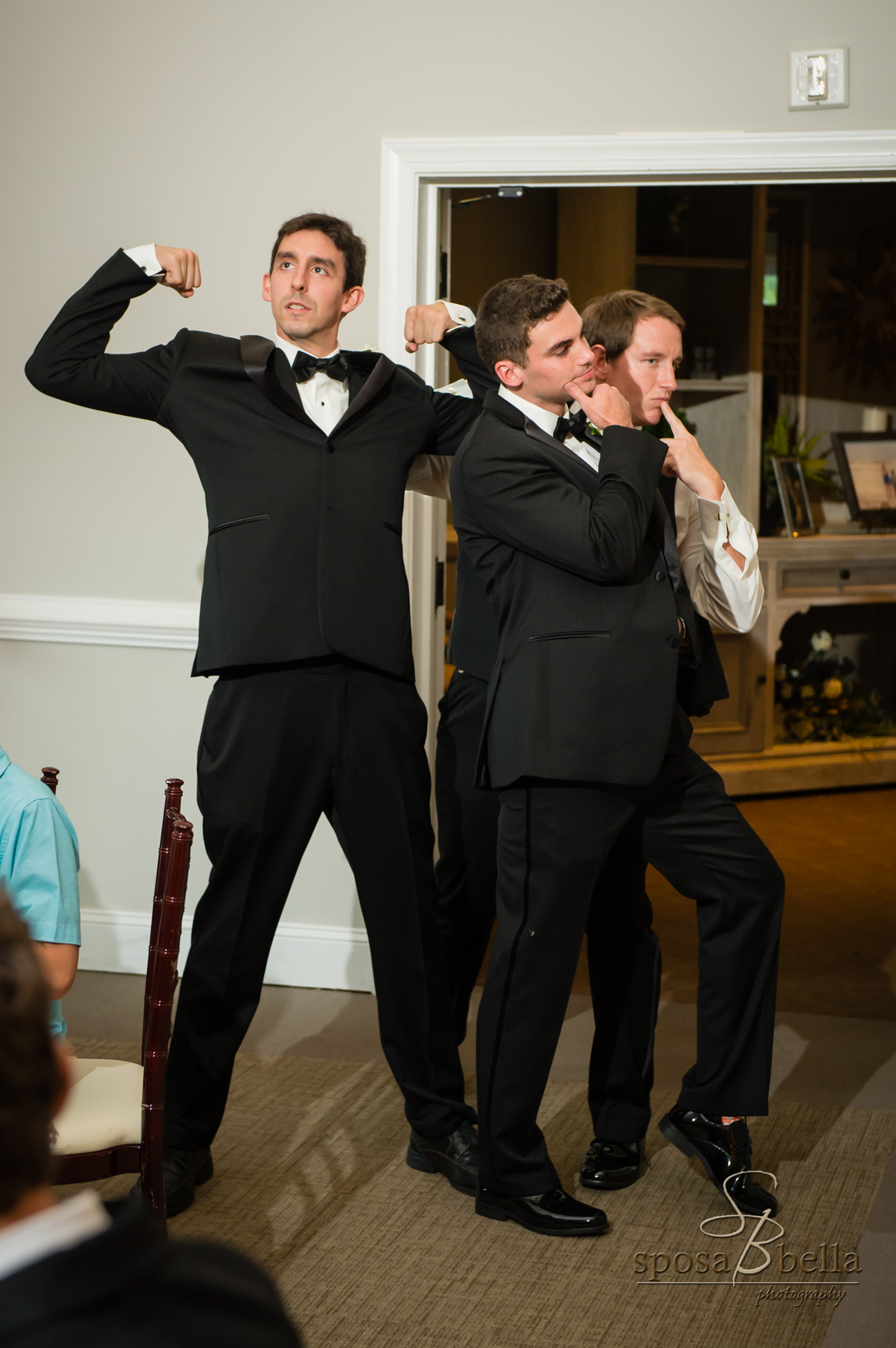 """To introduce their entergetic wedding party, Chris & Courtney chose the song """"Cant Stop the Feeling"""" by Justin Timberlake"""