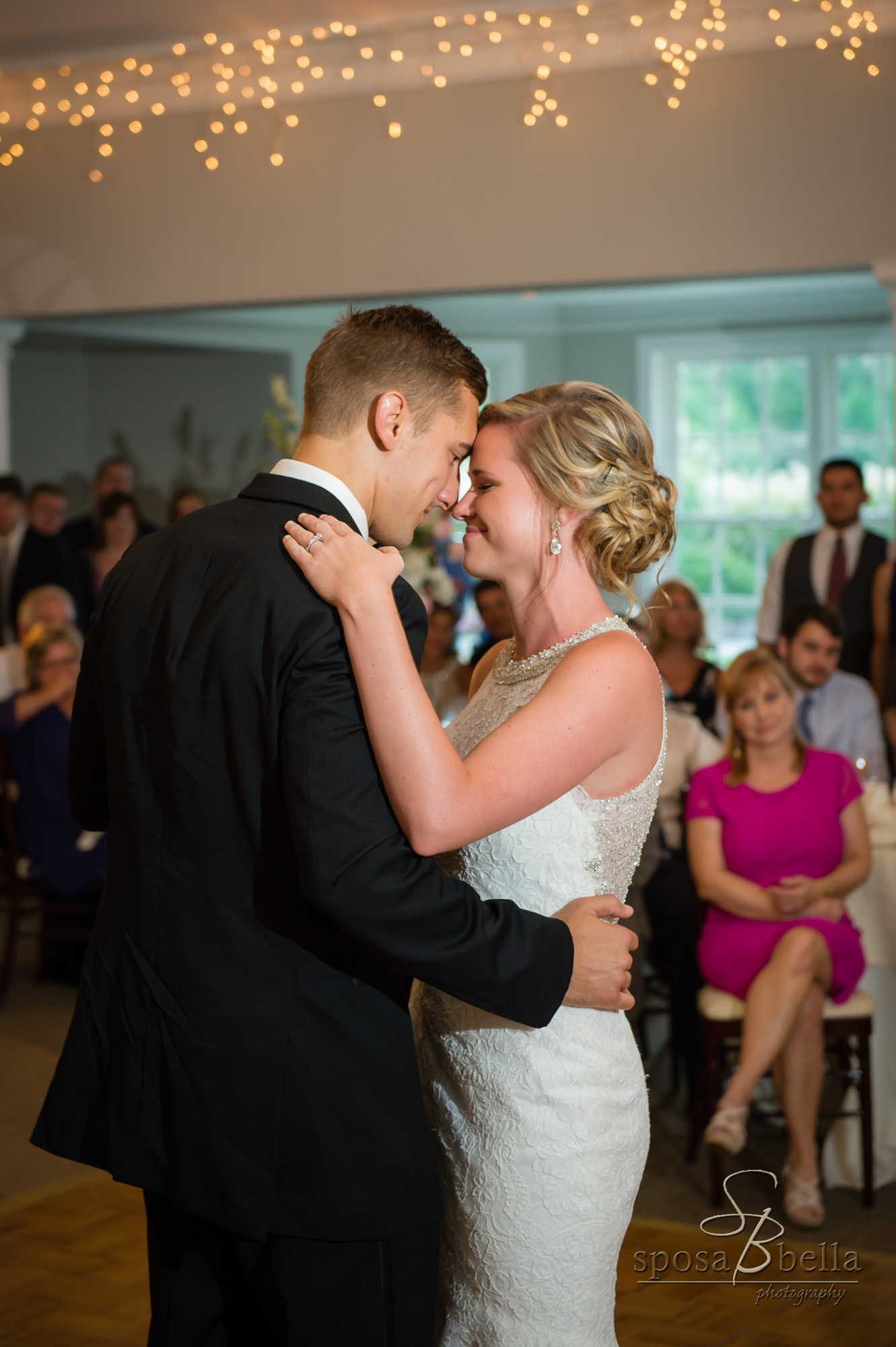 "After toasts, Courtney & Chris had their first dance as husband and Wife to ""Heaven's Knife"" By Josh Garrels"
