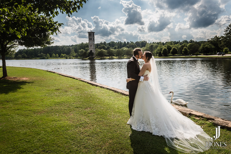 LOVE this epic shot with the Bell Tower in the background at Furman University!